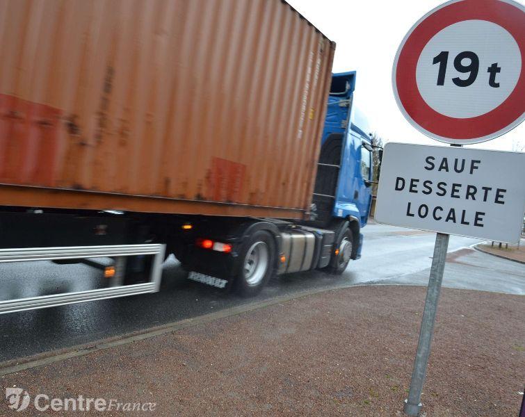 Interdiction circulation camion